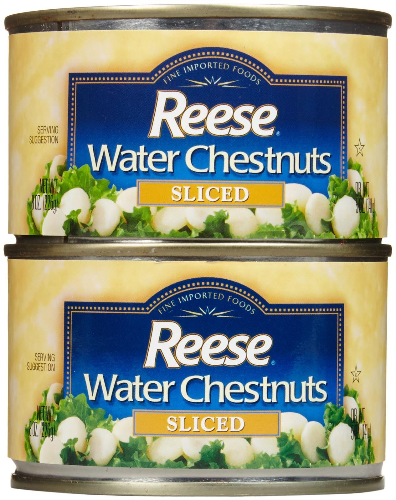 Reese Sliced Water Chestnuts-8 Oz-2 Pack by Reese