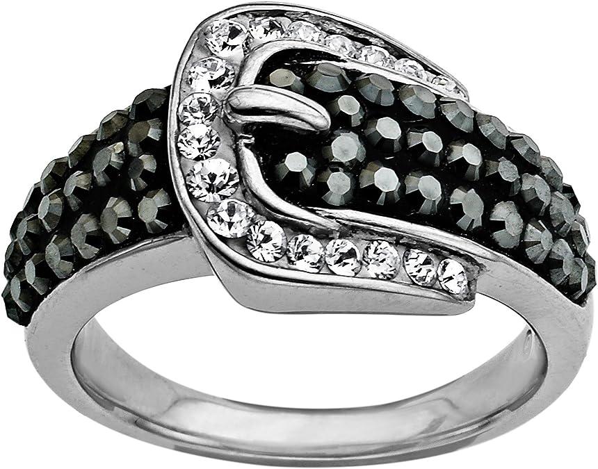 Vintage Sterling Silver Natural Ruby /& White Topaz Belt Buckle Ring Size 7