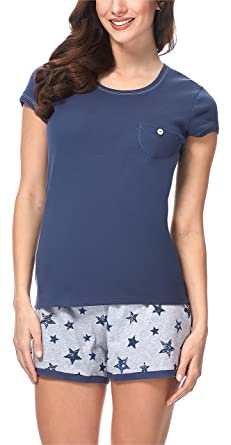 detailed look info for top design Italian Fashion IF Pyjama Ensemble Haut et Bas Vêtement d'intérieur Femme  7492T1 0227