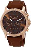 Caravelle New York Men's 44A102 Analog Display Japanese Quartz Brown Watch