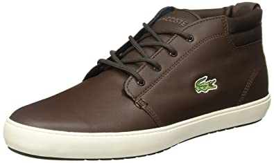 6f03d20f6 Lacoste Mens Mens Ampthill Terra Trainers in Dark Brown - UK 12 ...