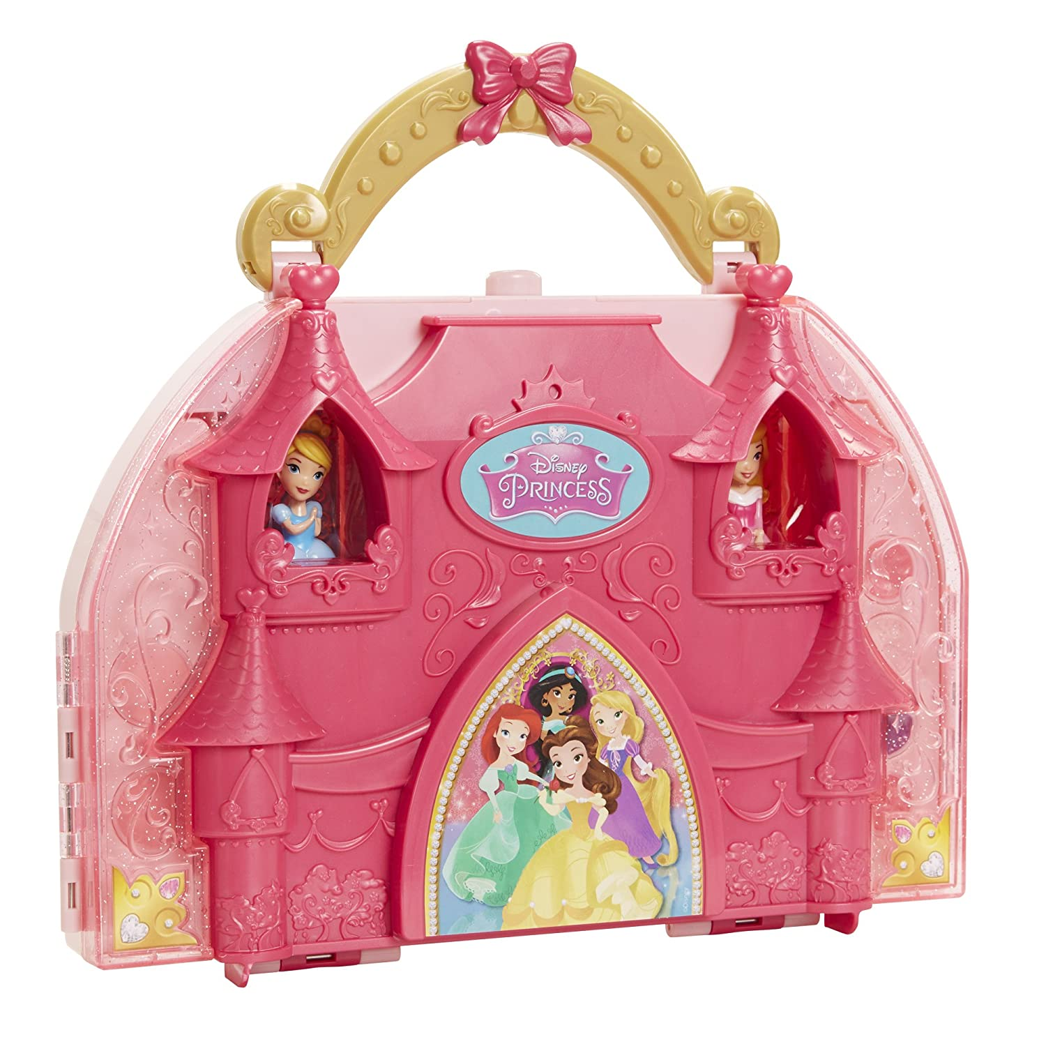 Disney princess coloring vanity case - Amazon Com Disney Princess Little Kingdom Cosmetic Castle Vanity Toys Games