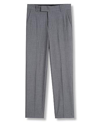 f67a2e2a457c Amazon.com  Calvin Klein Boys  Bi-Stretch Flat Front Dress Pant ...
