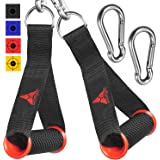 Allbingo Pro Cable Handles Compatible with Cable Machines and Bowflex, Heavy Duty Exercise Hand Grips Attachment with 2 Carabiners for Resistance Bands Total Home Gym
