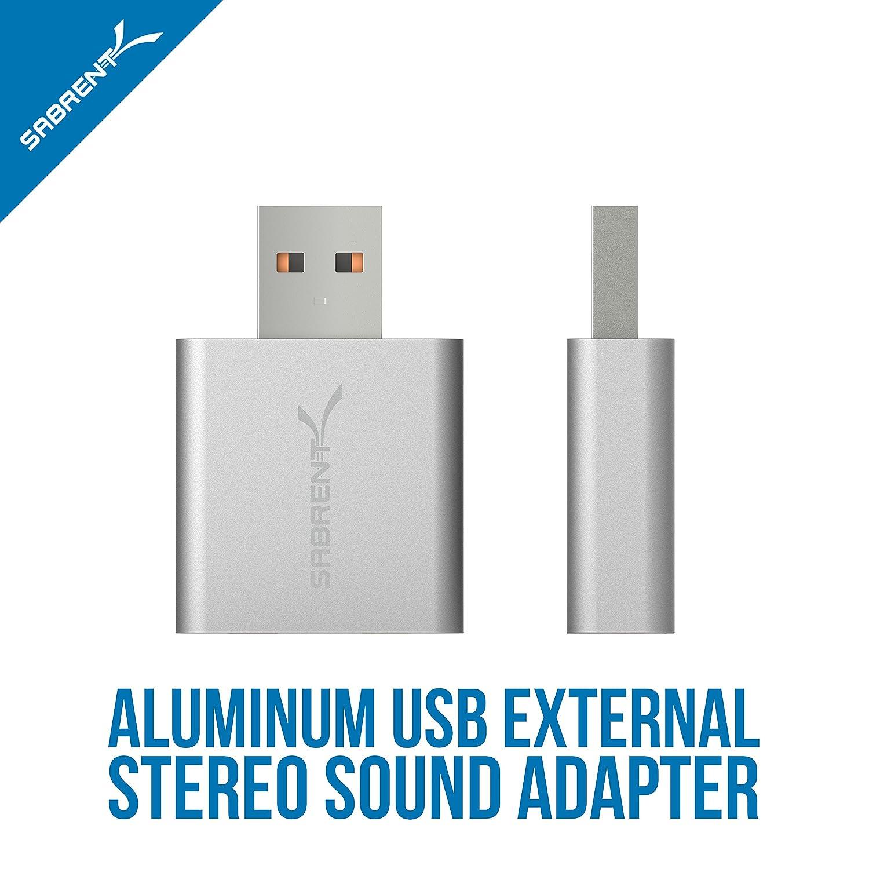 /Carte Son Externe USB 2.0 Sabrent AU-EMAC/