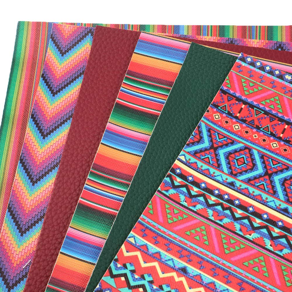 20 cm x 34 cm David accessories 6 Pcs 8 x 13 Feather Set Printed Faux Leather Fabric Sheets Include 2 Kinds of Leather Fabric for DIY Bows Earrings Making Crafts