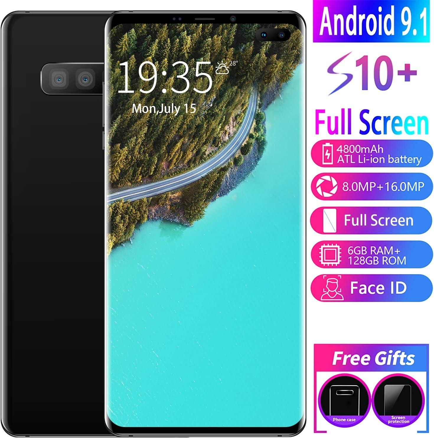 XGLL 6.1 Pulgadas Pantalla Completa Teléfonos Smartphone Android 9.1 8.0MP + 16.0MP 6 GB RAM + 128 GB ROM Batería Iones De Litio 4800 Mah Doble SIM Móviles Libres,Negro: Amazon.es: Hogar