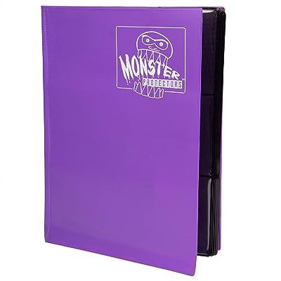 Monster Binder - 9 Pocket Trading Card Album - Matte Purple - Holds 360 Yugioh, Magic, and Pokemon Cards: Toys & Games