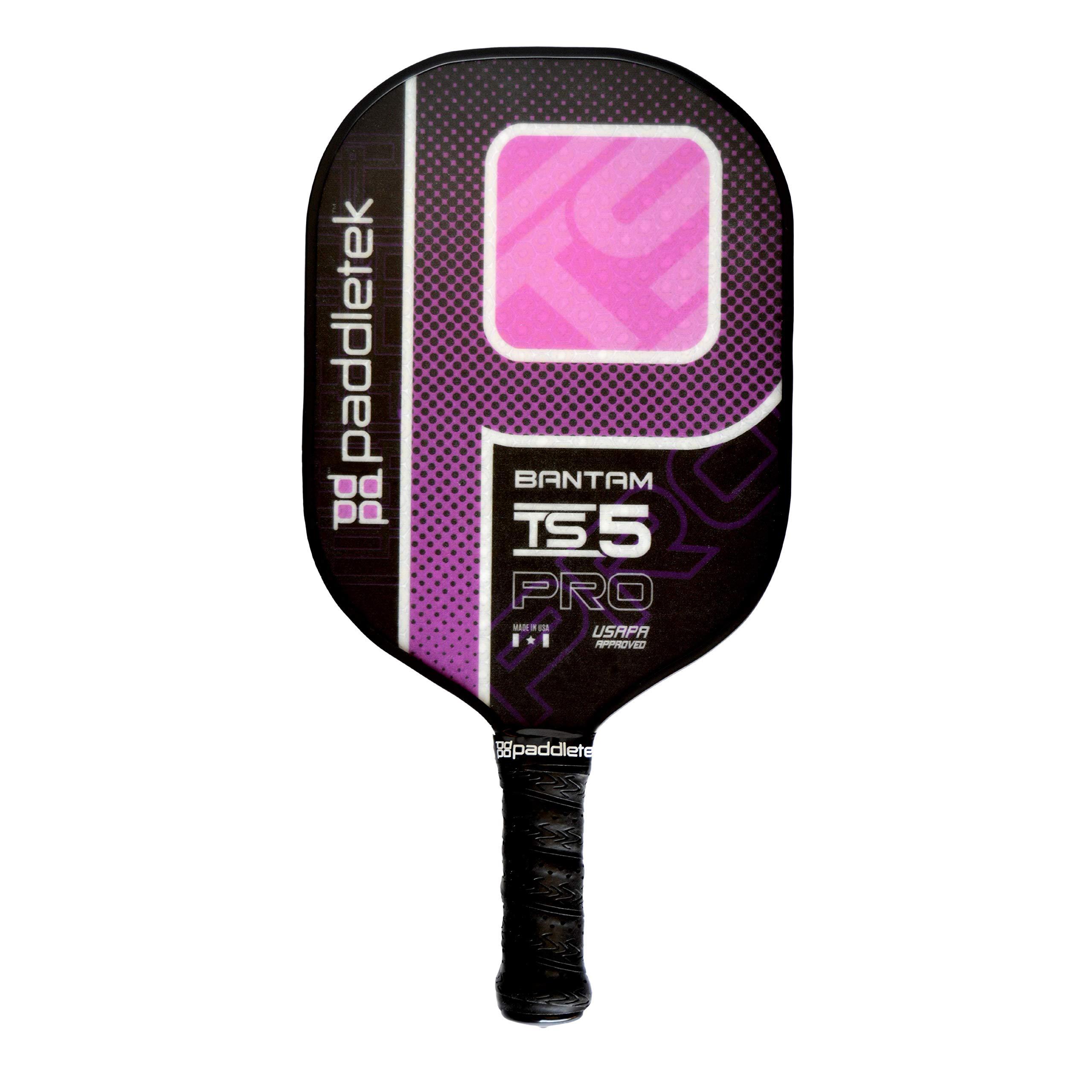 Paddletek Bantam TS-5 Pro Composite - Pink - Large (4 3/8'') - Standard Weight