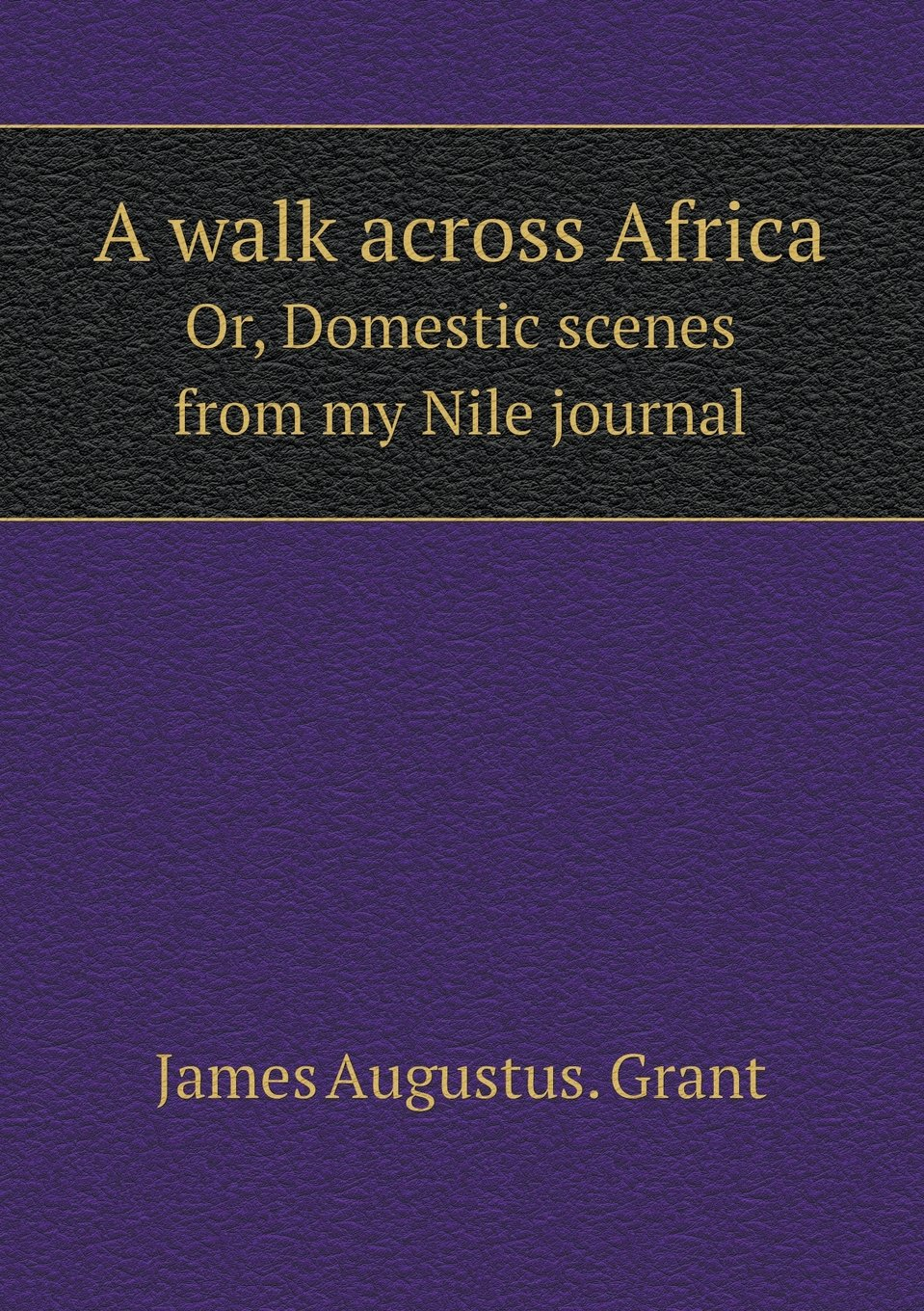 A walk across Africa Or, Domestic scenes from my Nile journal pdf epub
