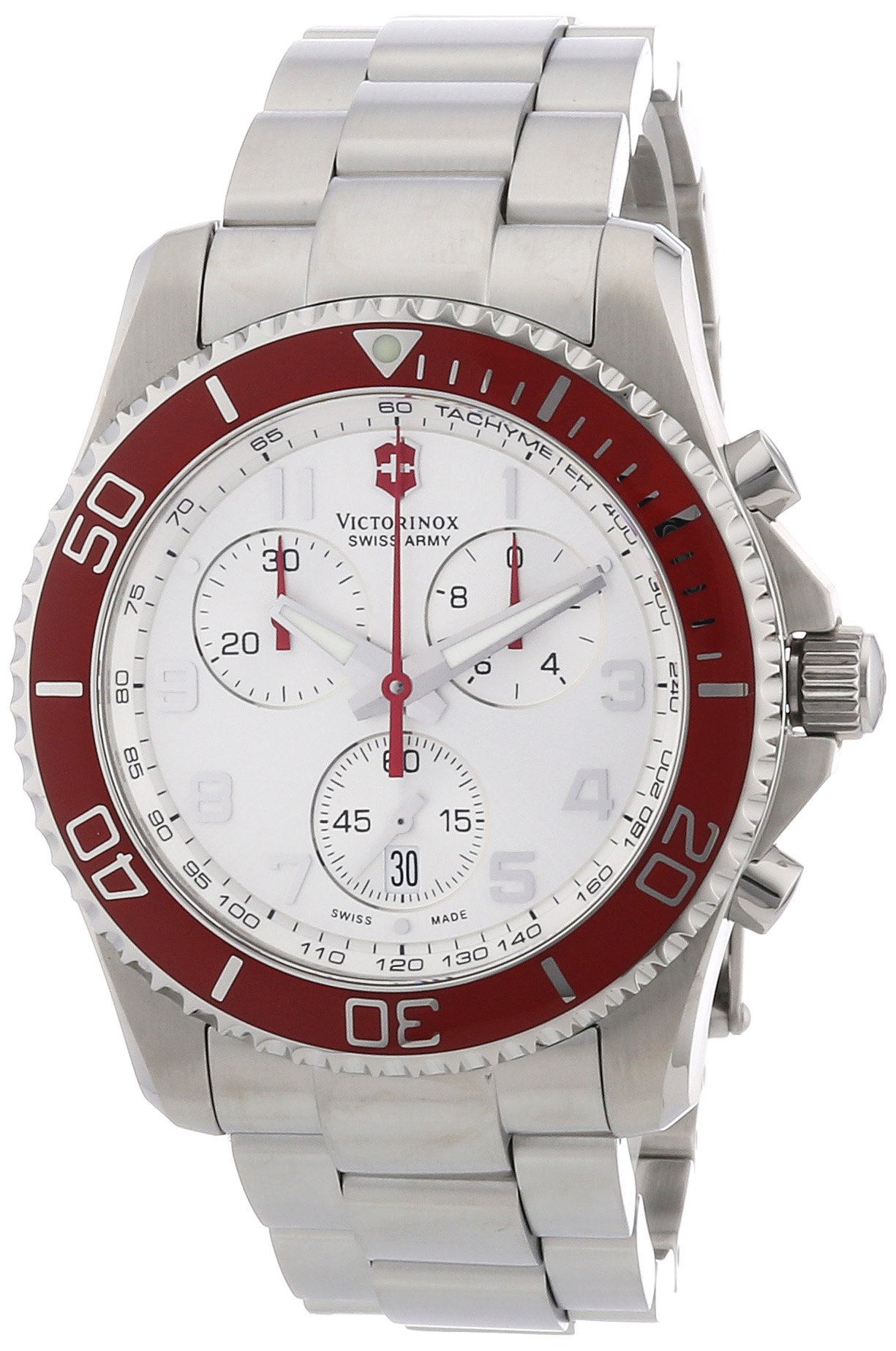Victorinox Swiss Army Men's 241434 Maverick GS Silver Chronograph Dial Watch