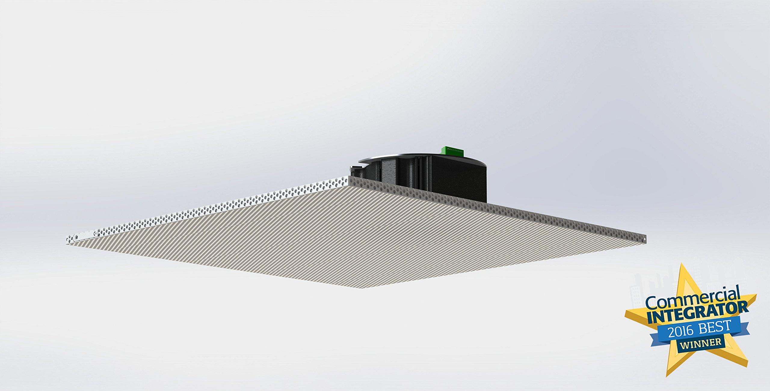 Wahsega 2x2 Drop Ceiling Tile IP Speaker | SIP & Multicast | Paging IP Speaker | PoE | HD Audio