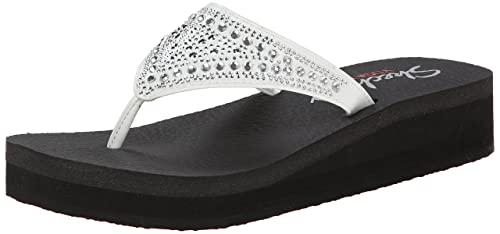 2048d22fce Skechers Women's Vinyasa - Bindu White Slippers - 6 UK/India (39 EU ...