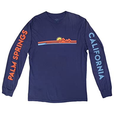 134bb4b7a Image Unavailable. Image not available for. Color: Palm Springs Long Sleeve  Navy Graphic tee