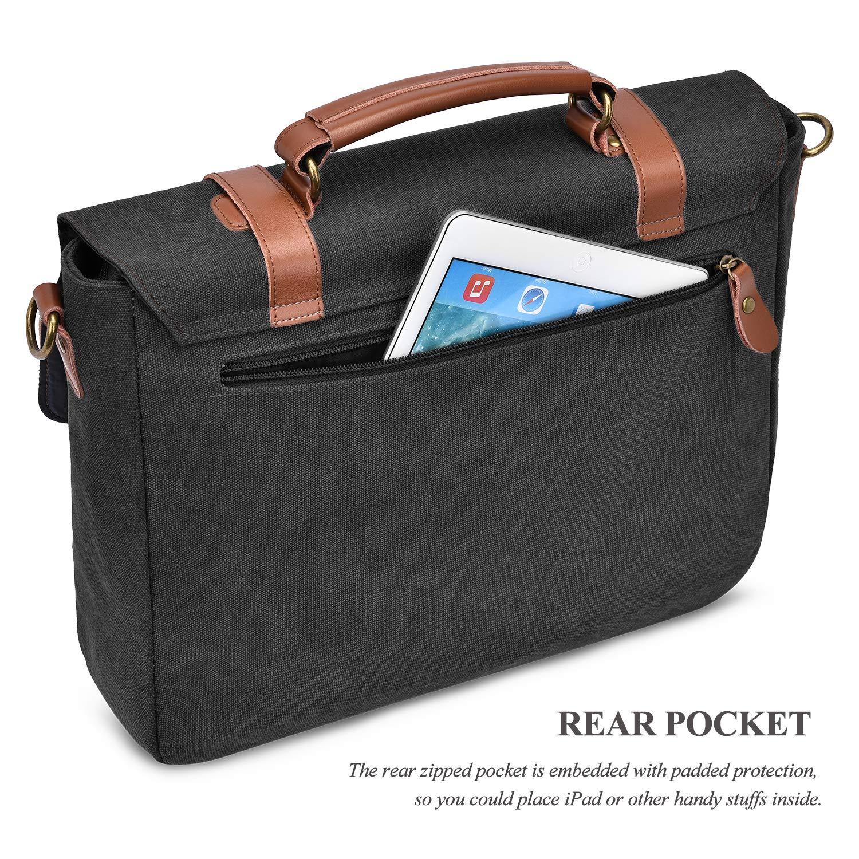f21a90993759 Amazon.com: Mens Laptop Messenger Bag 15.6 Inch Canvas Genuine ...