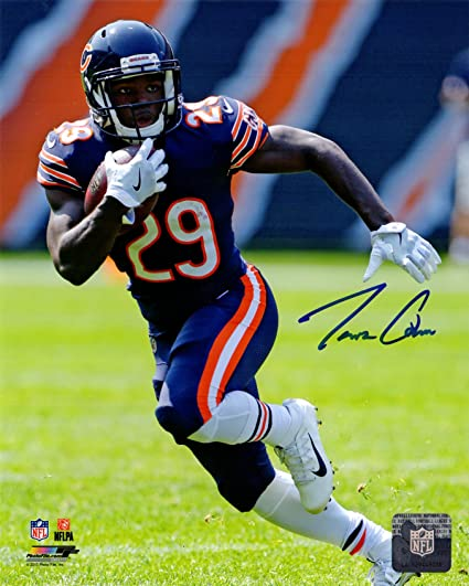 Image Unavailable. Image not available for. Color  Tarik Cohen Signed  Chicago Bears ... 7964542bf