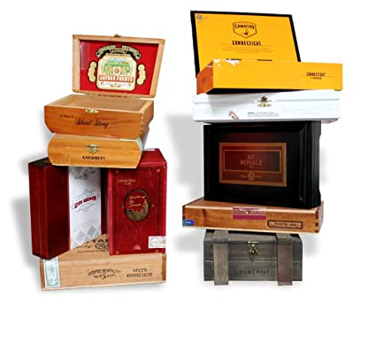 amazon com wooden empty cigar boxes pack of 10 empty home kitchen