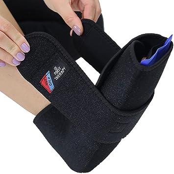 Everyday Medical Terapia de frío y calor para pies -Tobillera con bolsa de gel térmico para fascitis plantar, dolor de arco, espolones, tendinitis de ...