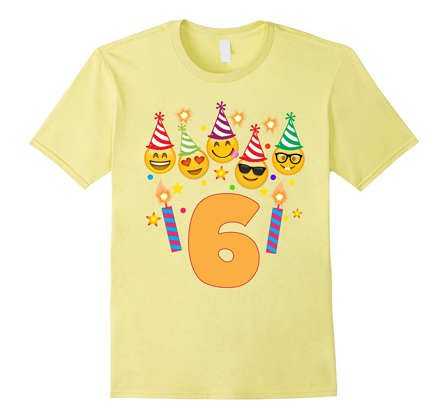 Emoji Birthday Shirt For 6 Six Year Old Girl Boy Toddler CD