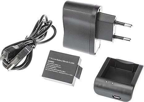Ultrasport UmovE - Kit de carga para la cámara deportiva y de acción HD60 (batería, cable USB, cargador y adaptador): Amazon.es: Deportes y aire libre