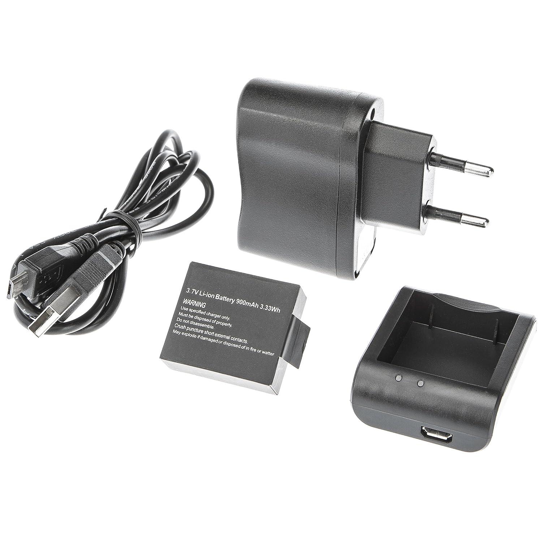 Ultrasport UmovE Power Kit UmovE - Batteria, Cavo USB, Caricabatteria, Cavo di alimentazione per la Videocamera Sport e Action UmovE HD60 Summary 331400000155