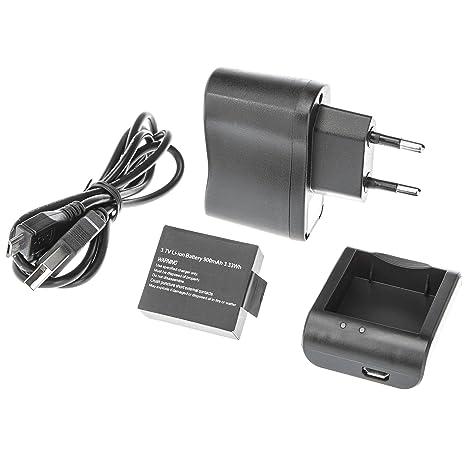Ultrasport UmovE - Kit de carga para la cámara deportiva y de acción HD60 (batería, cable USB, cargador y adaptador)