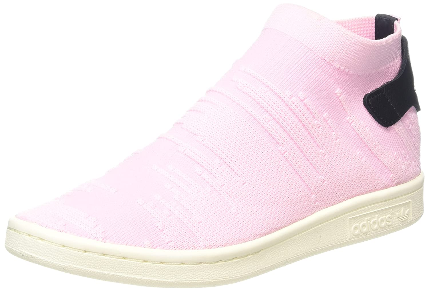 adidas Damen Stan Smith Sock Primeknit Sneaker  43 1/3 EU|Pink (Wonder Pink/Wonder Pink/Core Black)