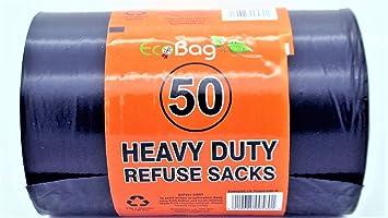 EcoBag - 50 Eco bolsas de basura resistentes de 100 litros ...