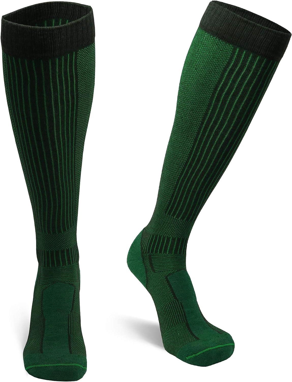 DANISH ENDURANCE Merino Wool Long Knee-high Outdoor Socks for Men, Women, Kids, Hiking, Trekking, Summer