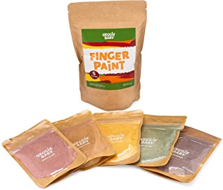 product image for Veggie Baby Finger Paints for Toddlers, Vegan, Organic Baby Safe Coloring, Play, Colorful Eco Painting (5 Colors)