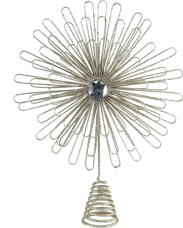 Christmas Glitter Holiday Starburst Decoration Ornativity Flower Sunburst Tree Topper