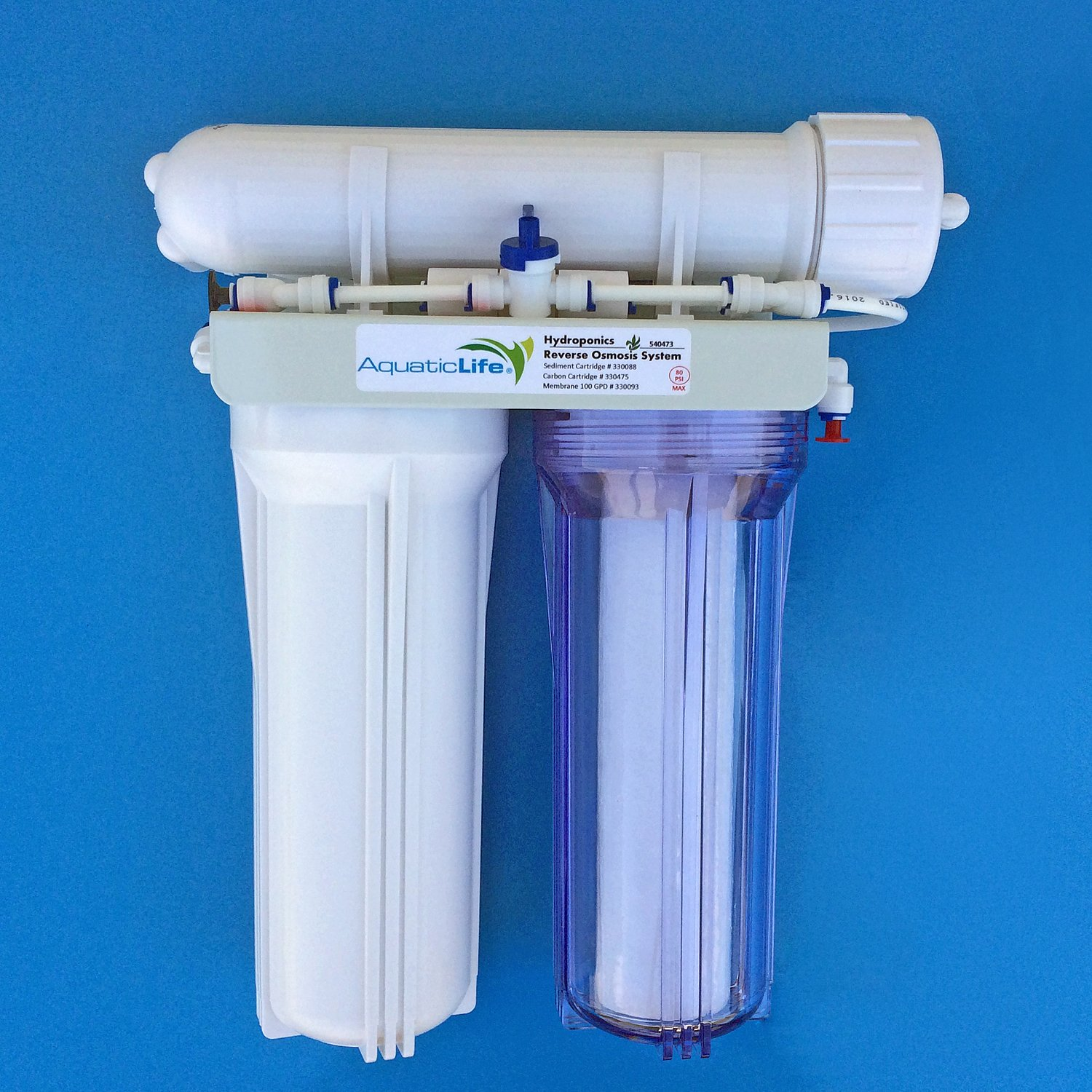 Aquatic Life 3-Stage 100 GPD Hydroponic Reverse Osmosis Filtration System