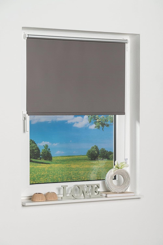 K-home 265833–5Klemmfix Mini tenda avvolgibile oscurante, plastica, Tessuto, grigio, 50 x 150 cm China 265833-2