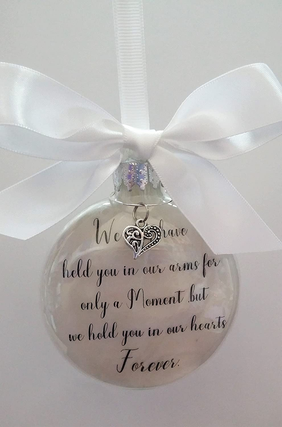 Amazon.com: Infant Loss Memorial Ornament - We May Have Held You in ...
