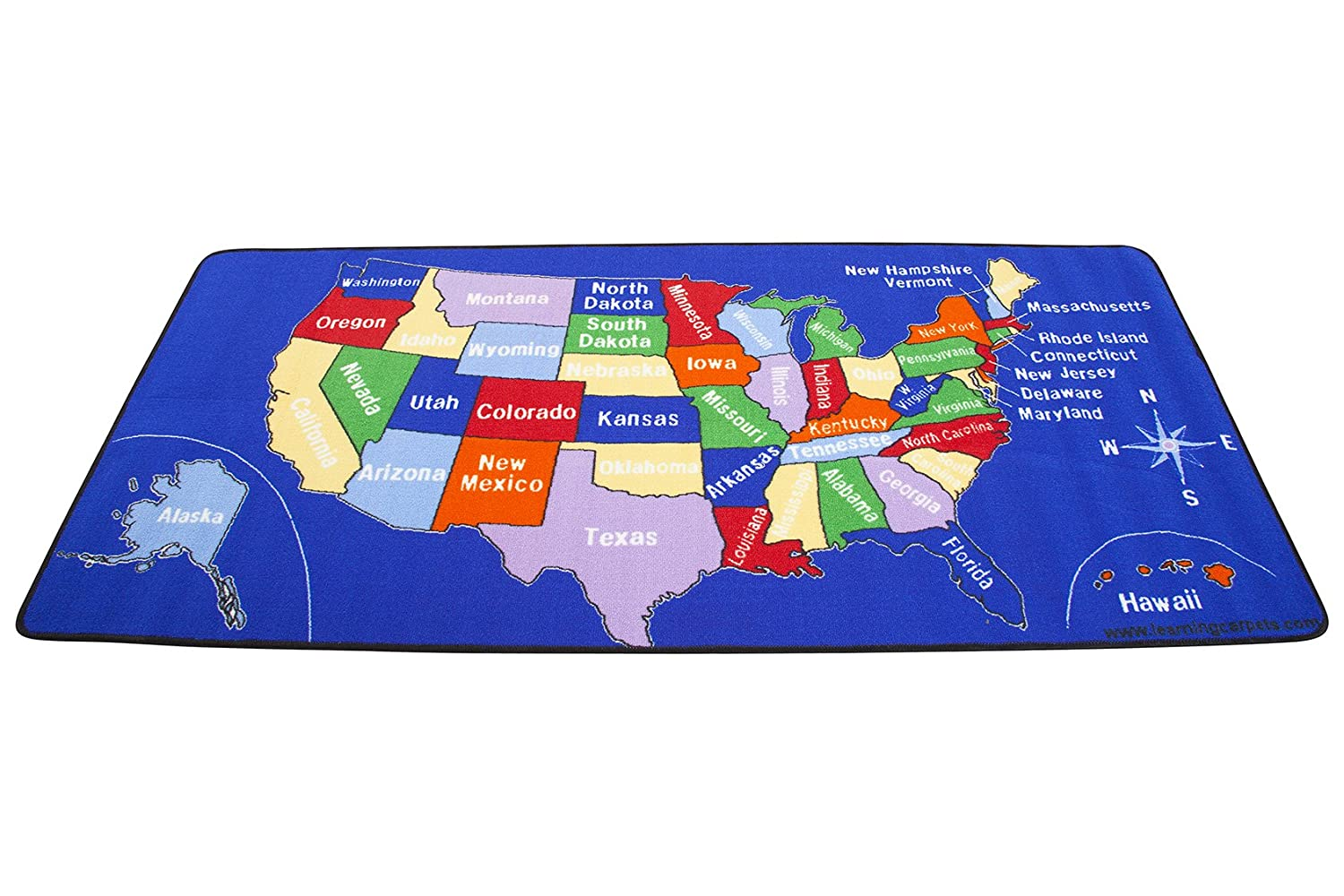 Amazoncom Learning Carpets US Map Carpet LC Toys Games - Us photo map mat
