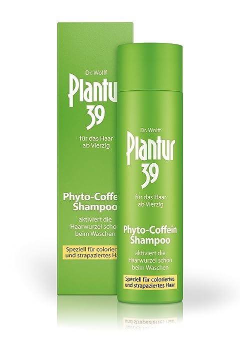 Plantur 39 - Champú con cafeína, especial para cabellos teñidos y desgastados (250 ml