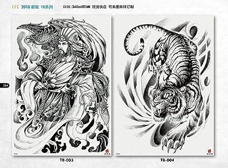tzxdbh 2Pcs- Etiqueta engomada del Tatuaje de la Espalda ...