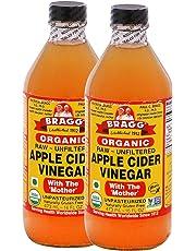 Bragg Organic Raw, Unfiltered Apple Cider Vinegar, 946ml (Pack of 2)