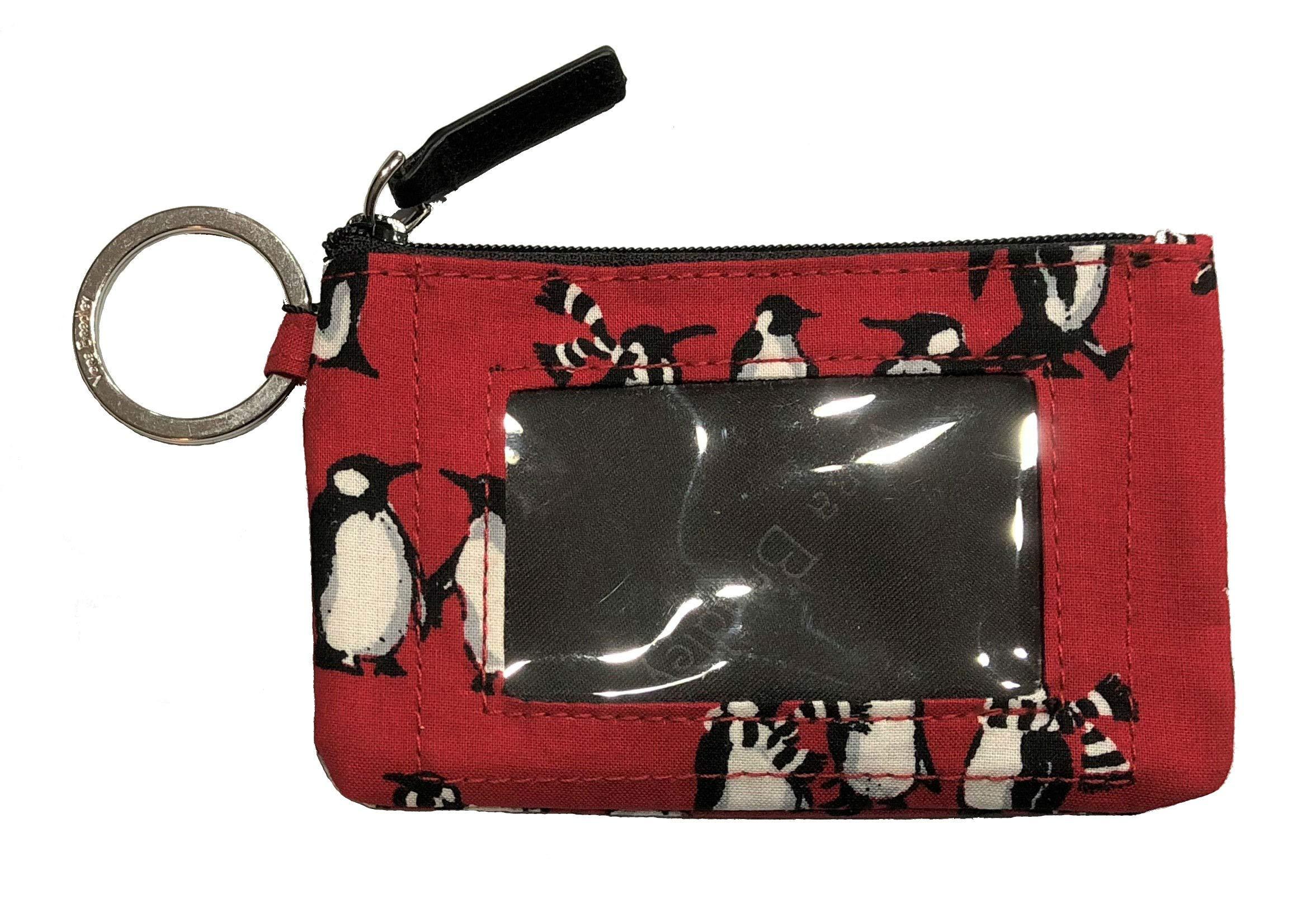 Vera Bradley Women's Zip ID Case (Playful Penguins Red)