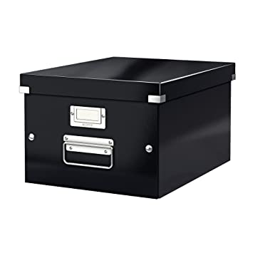 Leitz A4 Storage Box Click and Store Range 60440095 - Medium Black  sc 1 st  Amazon UK & Leitz A4 Storage Box Click and Store Range 60440095 - Medium Black ...