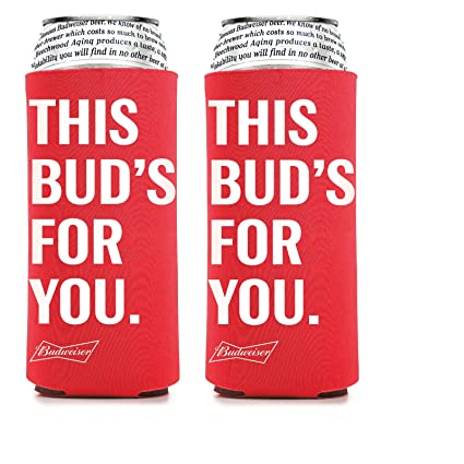 Amazoncom Budweiser 25 Ounce Man Can Cooler Set Of 2 Beer