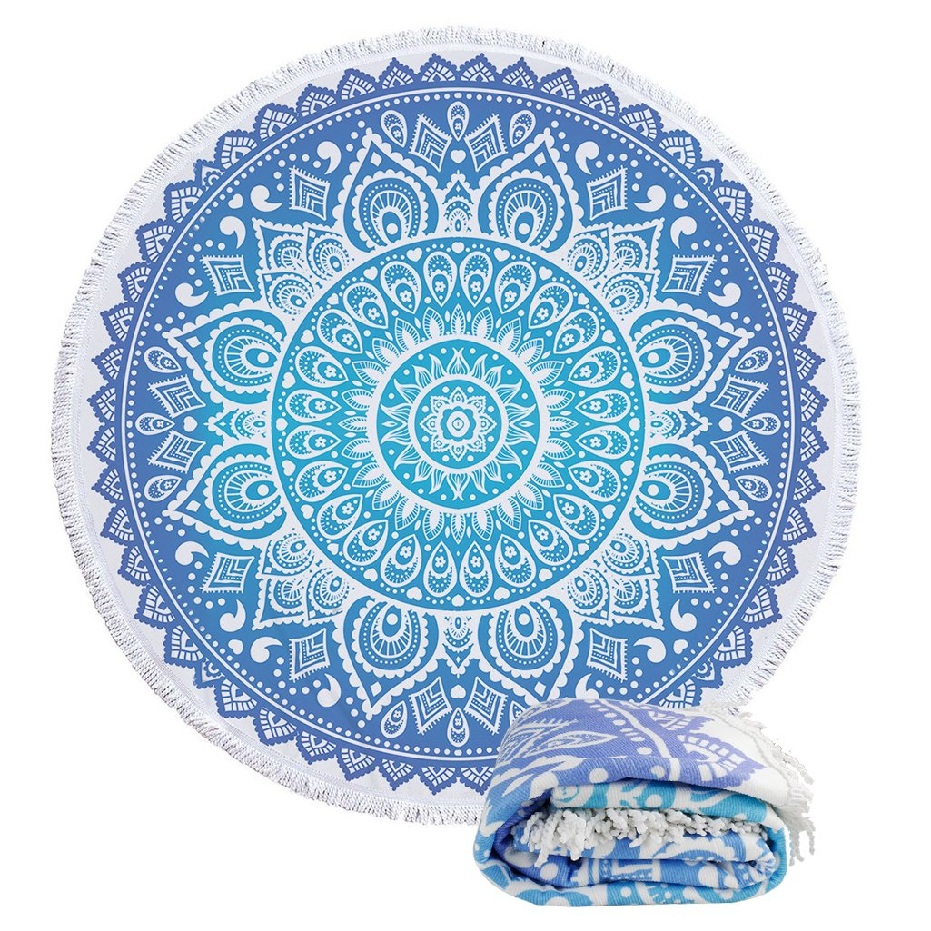 Round Roundie Indian Mandala Boho Beach Blankets Oversized Towels Ultra Soft Picnic Yoga Mat Wall Hanging Tablecloth Decorations With Various Colors and Patterns