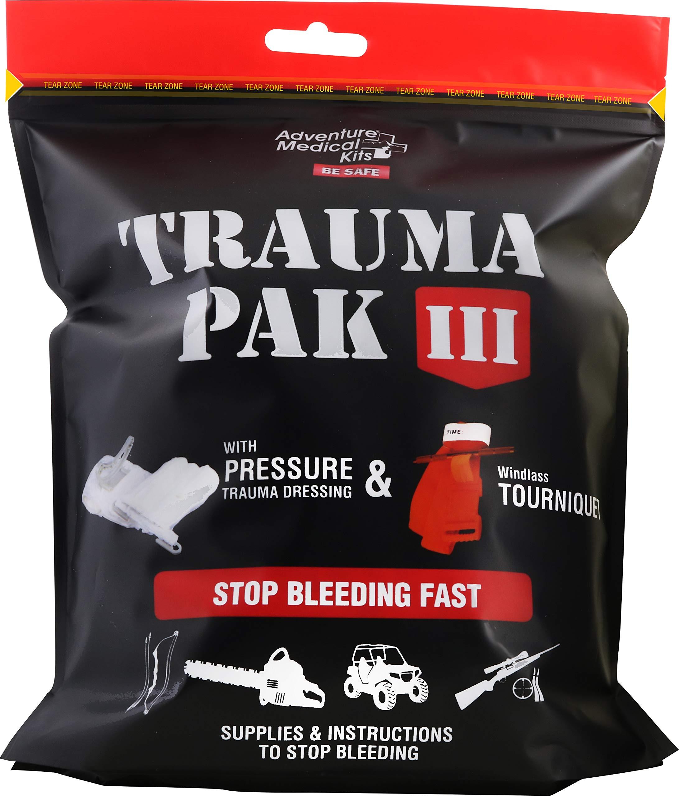 Adventure Medical Kits Trauma Pak 3 Emergency Field Kit with Advanced Clotting Sponge