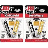 J-B Weld 8276 KwikWeld Quick Setting Steel Reinforced Epoxy - 2 oz (Single) (2 Pack)