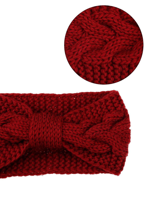 Pangda 4 Stück Kabel Stricken Stirnband Häkeln Stirnbänder Plain