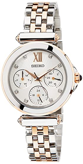 3a1df7294 Seiko Multi-function Beige Dial Two-tone Ladies Watch SKY700: Amazon.ca:  Watches