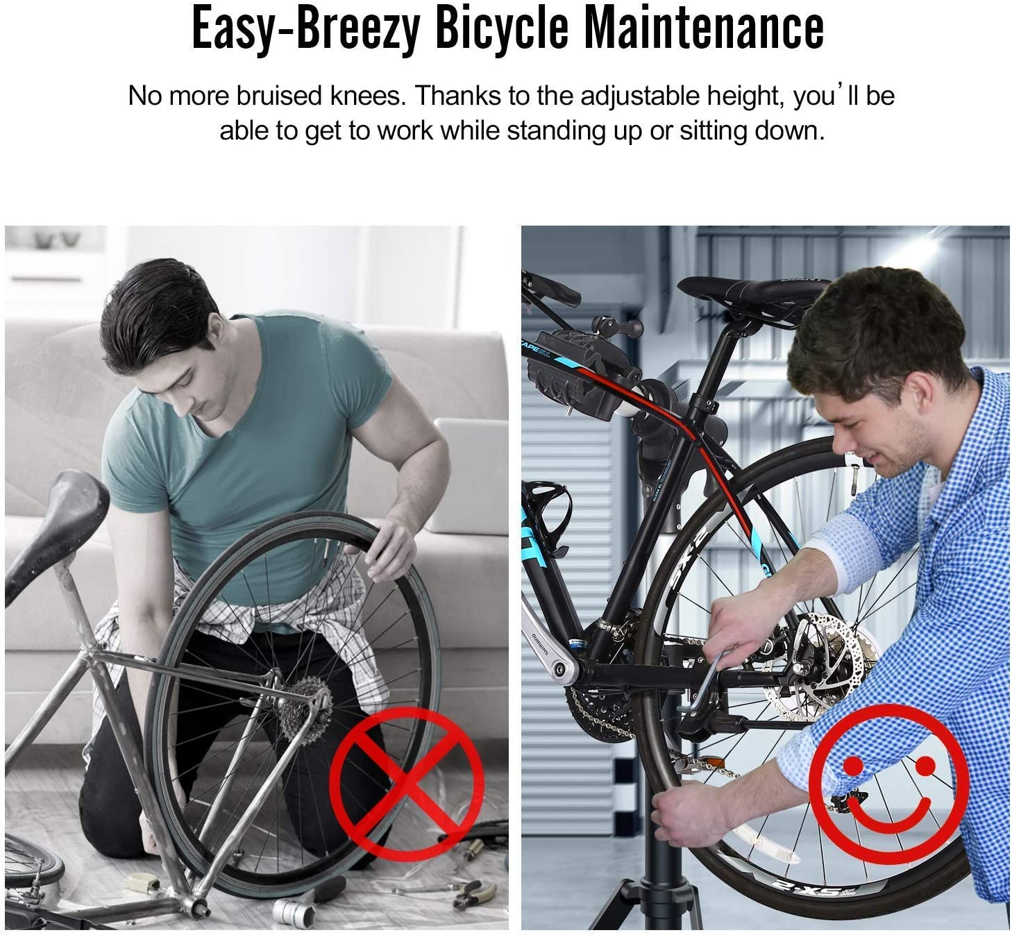Sportneer Indoor Bike Trainer Stand and Bike Repair Stand