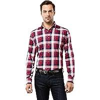 Vincenzo Boretti Camisa de Hombre, Ajustada Entallada (Slim-fit), 100% algodón, Manga-Larga, Cuello Kent, Lisa - no…