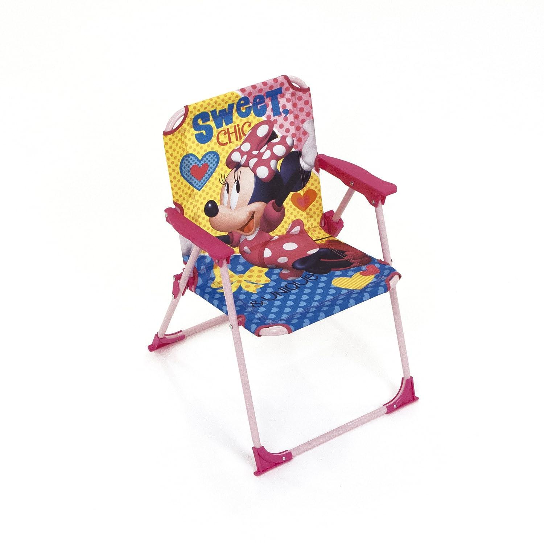 Arditex Sedia pieghevole per bambini sotto licenza Minnie in metallo dimensioni: 38x 32x 53cm, Tessuto, 38x 32x 53cm WD12018