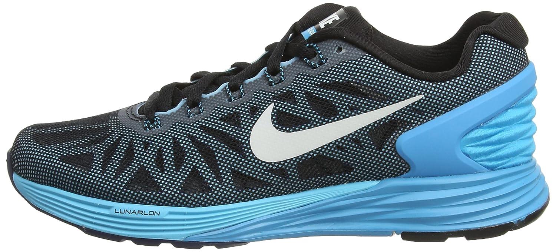 Wmns Lunarglide 6 Zapatillas de Running, Mujer, Negro, 35 1/2 Nike